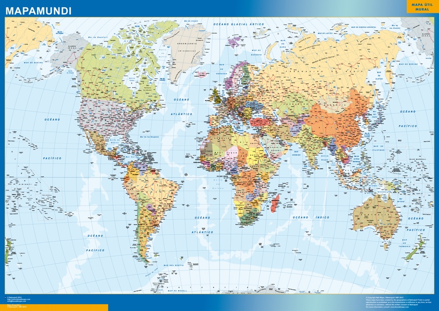 mapa mundo gigante