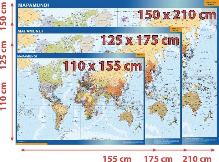 mapas mundo murales